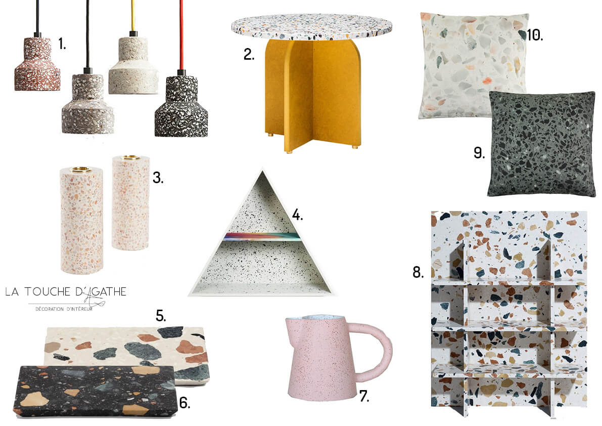 blog la touche d 39 agathe list shopping mat riaux terrazzo. Black Bedroom Furniture Sets. Home Design Ideas